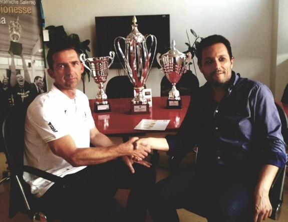 Neven Hrupec con patron Mario Pisapia