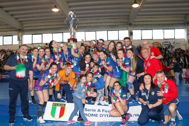 Il triplete è servito: la Jomi Pdo Salerno è Campione d'Italia