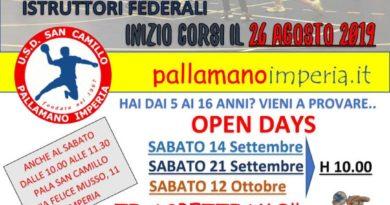 """Team Schiavetti Pallamano Imperia, continuano con successo gli """"Open Day"""""""