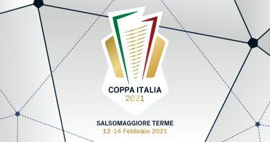 LE FINALS DI COPPA ITALIA DAL 12 AL 14 FEBBRAIO A SALSOMAGGIORE TERME